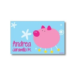 Label cards - pig