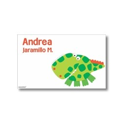 Label cards - crocodile