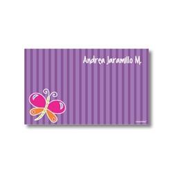 p3401 violeta - Tarjetas de presentación - Mariposa
