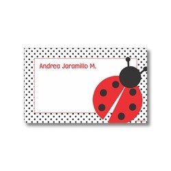 Label cards - ladybug