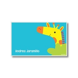 Label cards - giraffe
