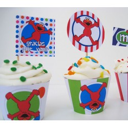 tcup0000 - Toppers para cupcakes x4 und.