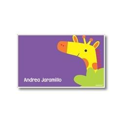 p5101 violeta - Tarjetas de presentación - Jirafa