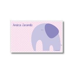 p5103 rosado - Tarjetas de presentación - Elefante