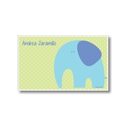p5103 verde - Tarjetas de presentación - Elefante