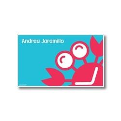 p5708 azul - Tarjetas de presentación - Cangrejo