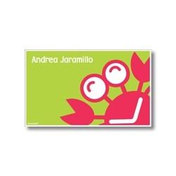 p5708 verde - Tarjetas de presentación - Cangrejo