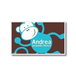 Label cards - monkey