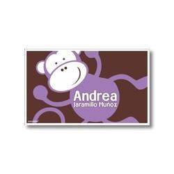 p6809 violeta - Tarjetas de presentación - Mono