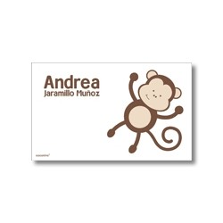 Label cards - monkey