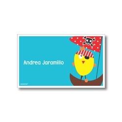 p7007 - Tarjetas de presentación - Pollito pirata