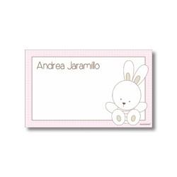 p7202 rosado - Tarjetas de presentación - Conejo