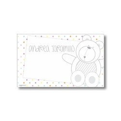 Label cards - bear
