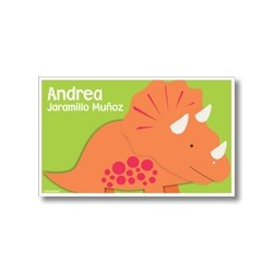 p9407 verde - Tarjetas de presentación - Dinosaurio
