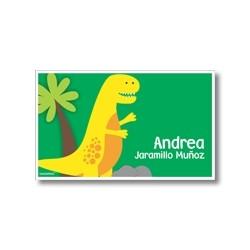 p9408 verde - Tarjetas de presentación - Dinosaurio