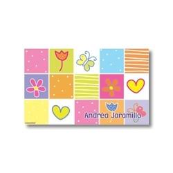 p2506 - Tarjetas de presentación - Flores y  Mariposas
