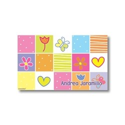 Label cards - flowers and butterfly