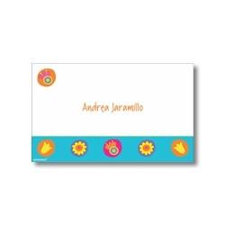 p3006 - Tarjetas de presentación - Flores