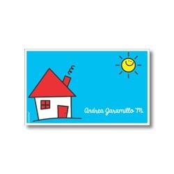 Label cards - house
