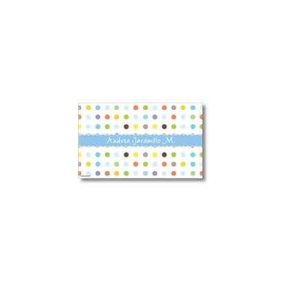 p7106 azul - Tarjetas de presentación - Pepas