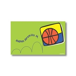 Label cards - basketball