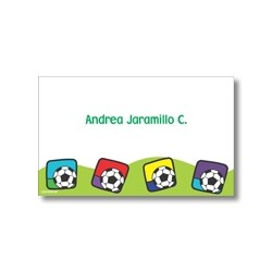 p0404 - Tarjetas de presentación - Fútbol