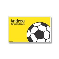 p6210 amarillo - Tarjetas de presentación - Fútbol
