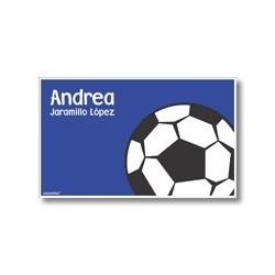 Label cards - football