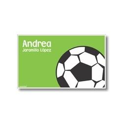 p6210 verde - Tarjetas de presentación - Fútbol