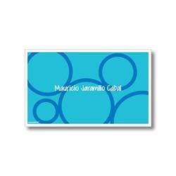 p0001 azul - Tarjetas de presentación - Círculos