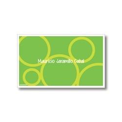p0001 verde - Tarjetas de presentación - Círculos