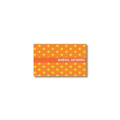 p0208 naranja - Tarjetas de presentación - Estrellas