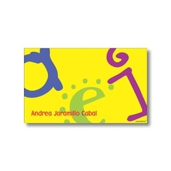 Label cards - letters