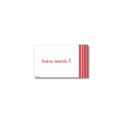 p0610 - Tarjetas de presentación - Rayas