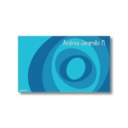 p2310 azul - Tarjetas de presentación - Círculos