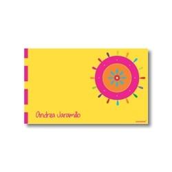 p2503 amarillo - Tarjetas de presentación - Flores