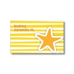 p3208 amarillo - Tarjetas de presentación - Estrellas