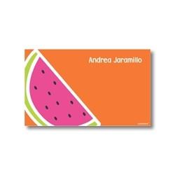 p3502 naranja - Tarjetas de presentación - Sandia