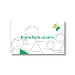 Label cards - family
