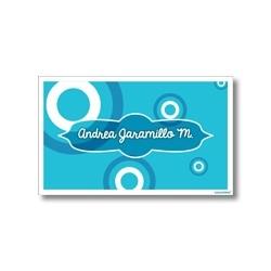 p4004 azul - Tarjetas de presentación - Círculos