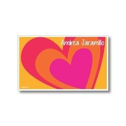 p4106 naranja - Tarjetas de presentación - Corazones
