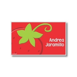 Label cards - strawberry