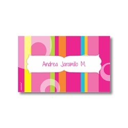 Label cards - stripes