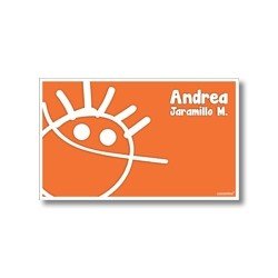p4607 naranja - Tarjetas de presentación - Niño