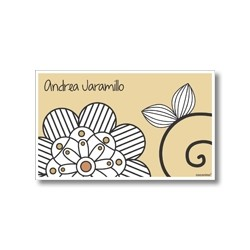 p7304 - Tarjetas de presentación - Flores