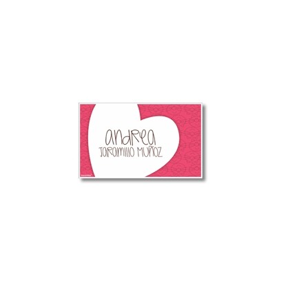 Label cards - heart