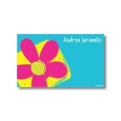 p1907 - Tarjetas de presentación - Flores