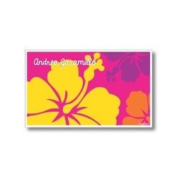 p6509 fucsia - Tarjetas de presentación - Flores