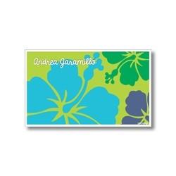 p6509 verde - Tarjetas de presentación - Flores