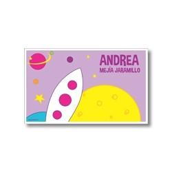 p9202 violeta - Tarjetas de presentación - Espacio cohetes